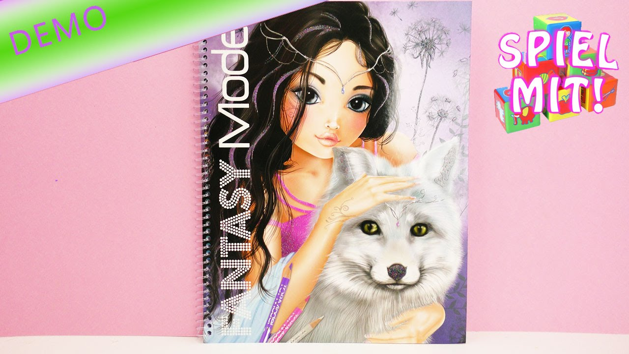 Fantasy Model Fantasievolle Topmodels Malen Malbuch Kreativ