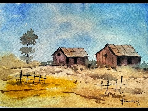 Landscape Painting in Watercolor | Paint with david |