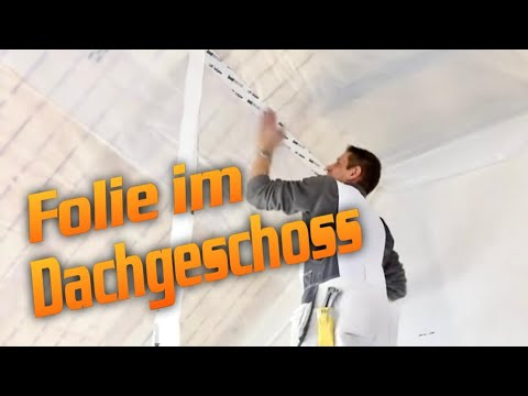 trockenbau folieneinbau im dachgescho dampfsperre dampfbremse drywall hobein youtube. Black Bedroom Furniture Sets. Home Design Ideas