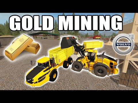 FARMING SIMULATOR 2017 | GOLD MINING + HAULING TAILINGS ON TRAIN