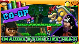 IMAGINE DYING LIKE THAT!  | Super Mario Maker 2 Co-Op with Oshikorosu and MikeTMikee!