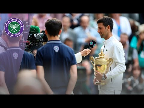 Novak Djokovic Wimbledon 2019 Winner's Speech