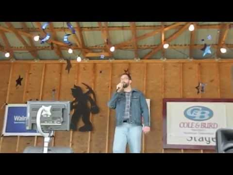 Eric Bailey at 2014 Blossburg State Coal Festival Karaoke Contest