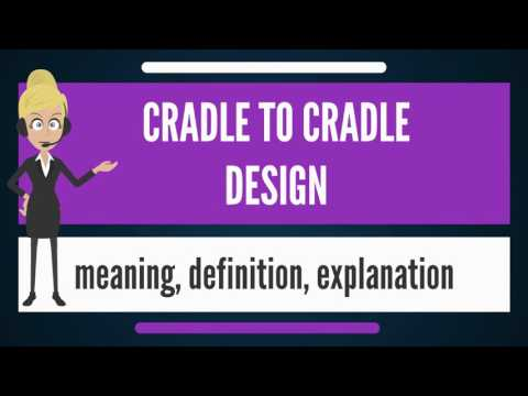 What is CRADLE TO CRADLE DESIGN? What does CRADLE TO CRADLE DESIGN mean?