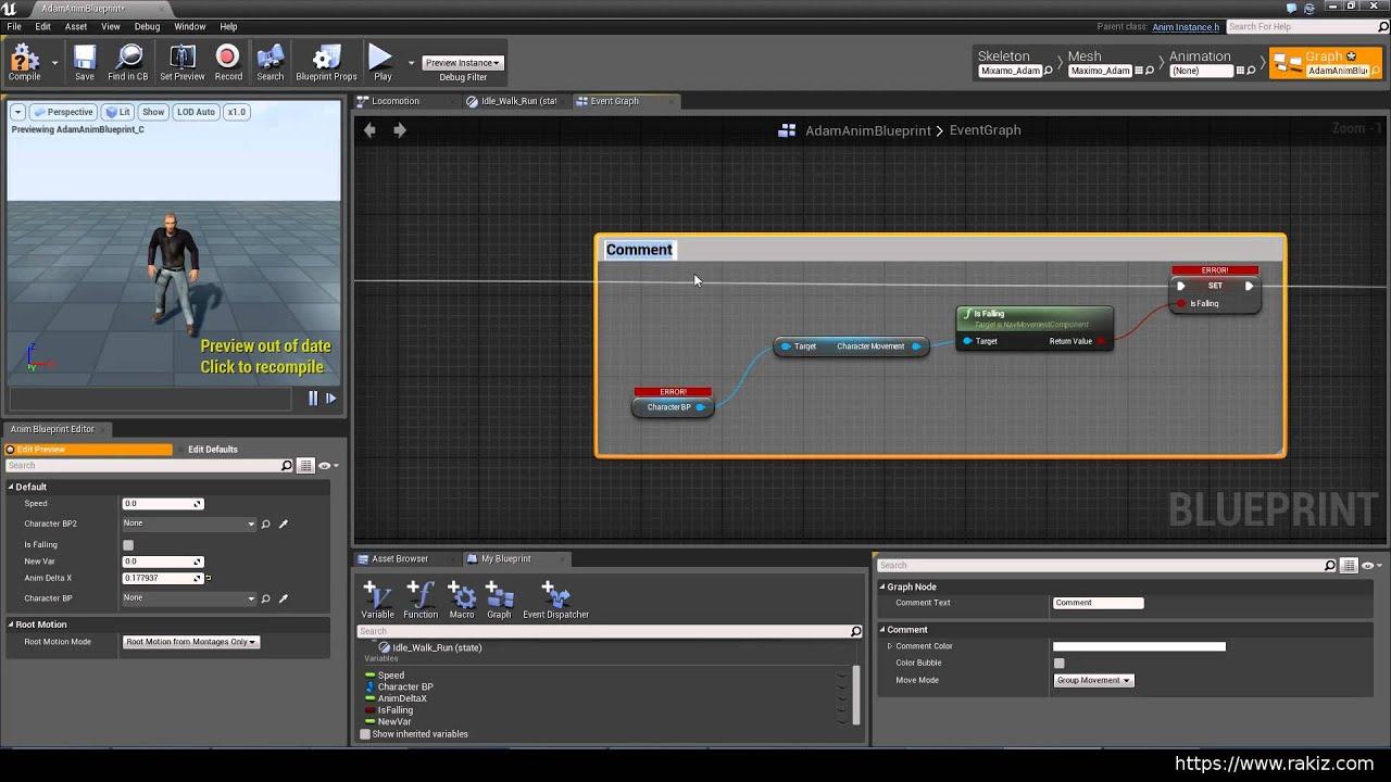 Ue4 2 basic animgraph setup youtube malvernweather Images