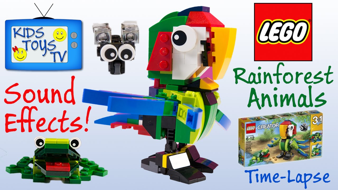Lego Creator Rainforest Animal Set 31031 Close Up Put