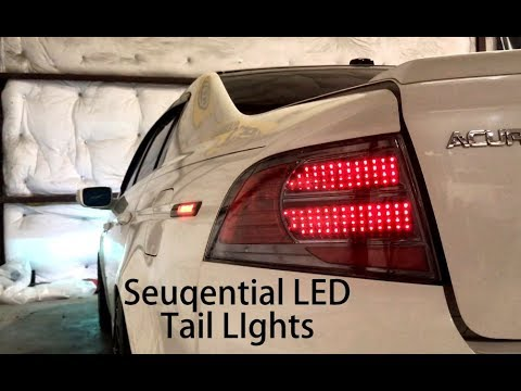 Acura TL Sequential Tail Lights NTXGLOW YouTube - Acura tl taillights