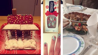VLOGMAS WEEK 4 ♥ Gingerbread House and Christmas! Thumbnail