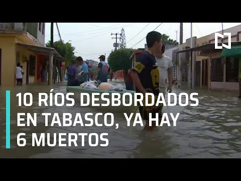 Inundaciones en Tabasco: Suben a seis los muertos por inundaciones - Las Noticias