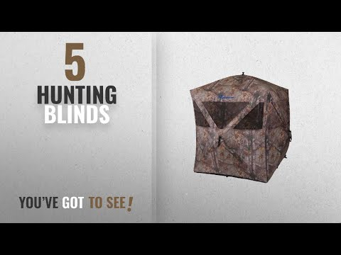 Top 10 Hunting Blinds [2018]: Ameristep Care Taker Ground Blind, Realtree Xtra
