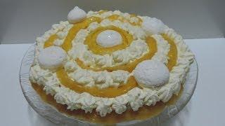 PAVÊ DE PÊSSEGO com merengue
