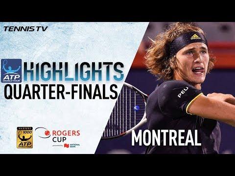 Highlights: Zverev Federer Shapovalov Haase In Montreal 2017 QF