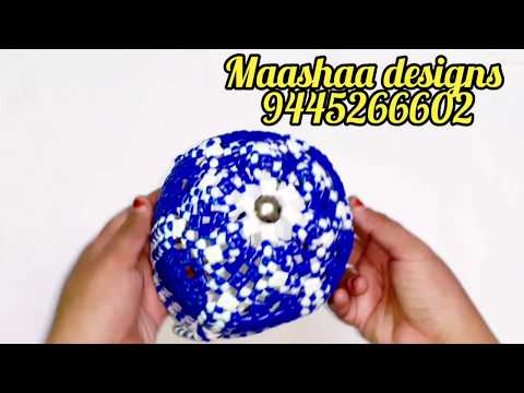 Mini round Pooja basket making clear easy tutorial for beginners part 2/2