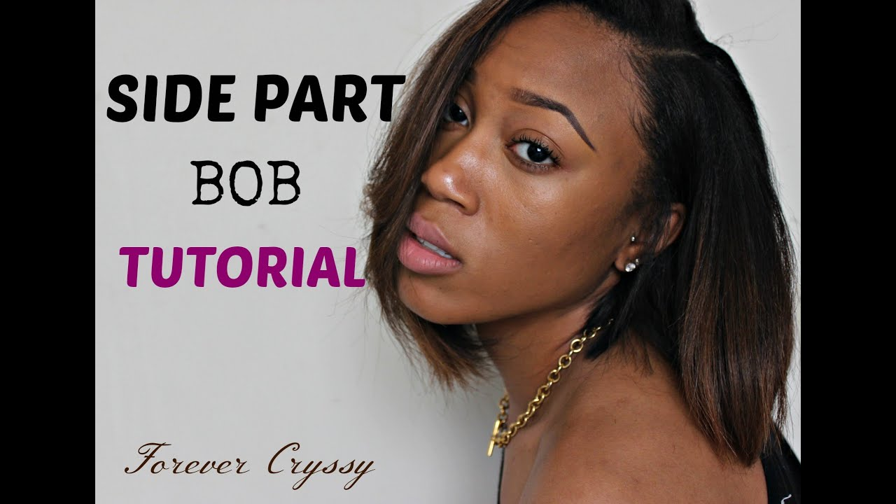 Side Part Bob Tutorial Youtube