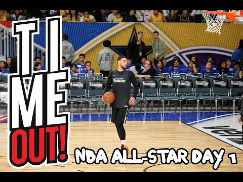 Time Out: Day 1 from NBA All-Star! Interview with Ben Simmons and Jamal Murray!