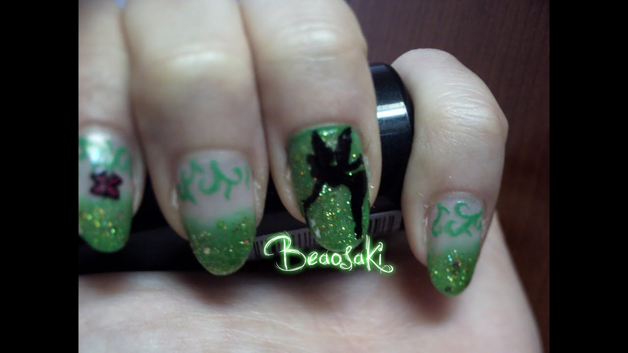Trilli campanellino tinkerbell nail art youtube trilli campanellino tinkerbell nail art prinsesfo Images
