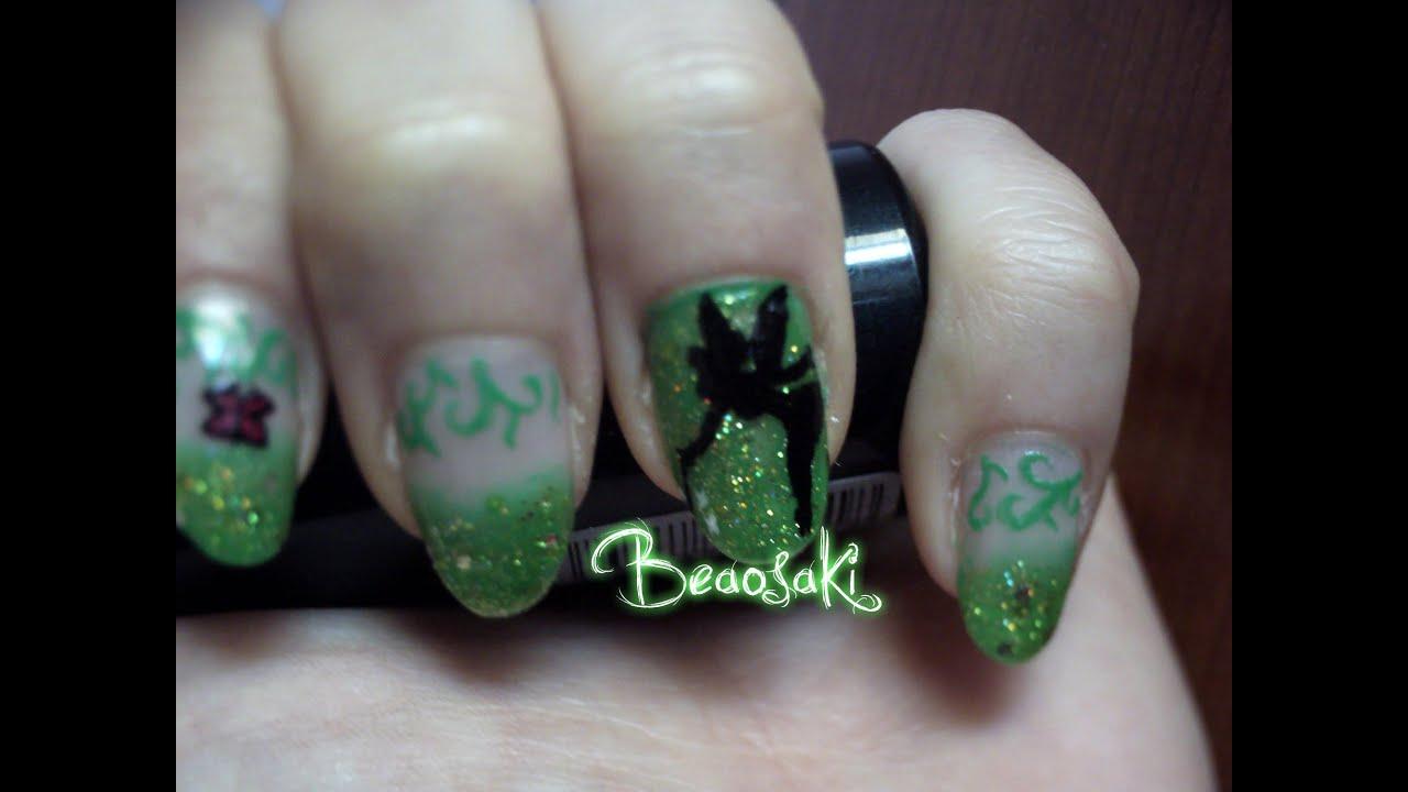 Trilli /Campanellino (Tinkerbell) Nail art - YouTube