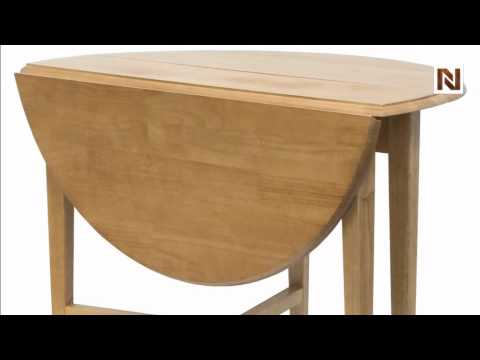 Winsome Hannah Round 42 Double Drop Leaf Gate leg Table 34942 YouTube