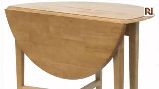 "Winsome Hannah Round 42"" Double Drop Leaf Gate Leg Table 34942"