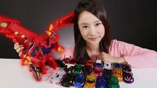 캐리의 터닝메카드 메가드래곤 장난감 과 21종 터닝카 메카니멀 변신 자동차 놀이 carrieandtoys