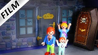 Playmobil Film deutsch   MEGA GRUSELIGES HAUS in Playmobil City entdeckt   Kinderserie Familie Vogel