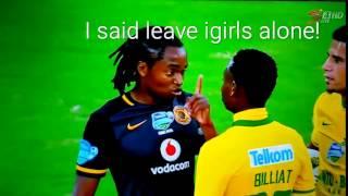 Earlier in the game Tshabalala scolded Khama Billiat to leave igirls alone  #TKO2015FINAL