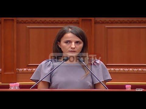 Report TV - Rudina Hajdari: E nderuar që flas para jush si bija e Azemit