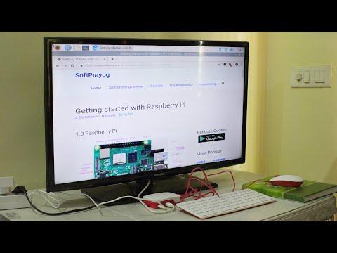First boot of Raspberry Pi 4 Model B