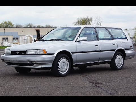 1991 Toyota Camry V6 LE Station Wagon Silver Metallic