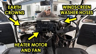 HOW TO REPLACE THE HEATER FAN MOTOR IN A VW T3 (And other vital jobs to do with the dash out!)