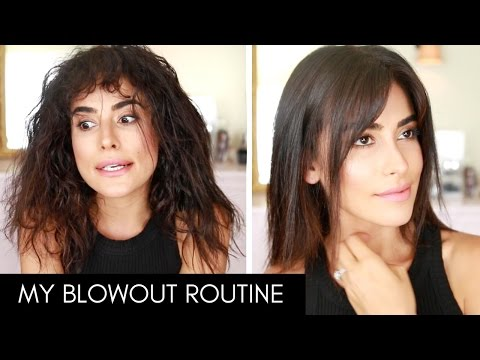 How I Blow Dry & Style My Hair with BANGS! | Wet to Dry