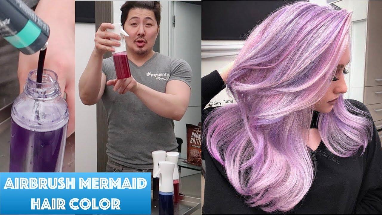 Airbrush Mermaid Hair Color Youtube