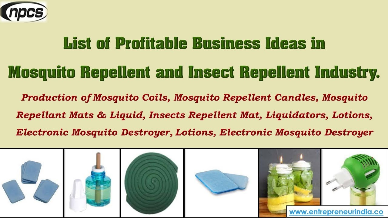 Making Money From Mosquito Repellents Business Youtube