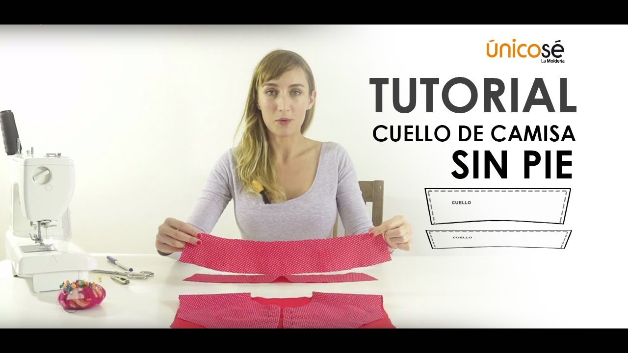 Tutorial cuello camisa SIN PIE - YouTube