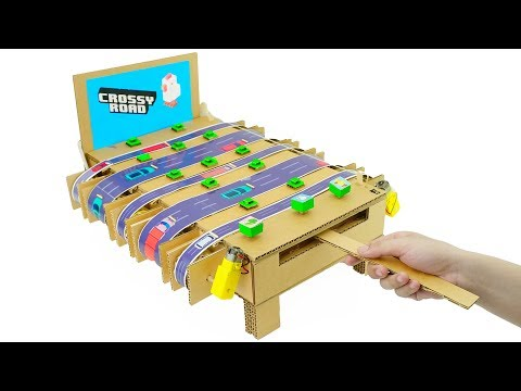 How to Make Amazing Crossy Road Game from Cardboard