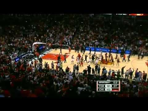 Chicago bulls Luol Deng game winning tip
