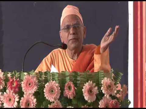 Swami Shashankananda, Ram Krishna Mission Ashram, Ranchi during ICON-2013 at SMS Varanasi