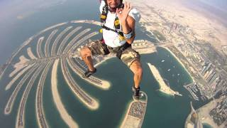 Jumping from a height of heaven above Dubai 2011