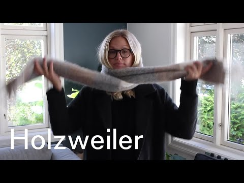 How to tie a Holzweiler scarf