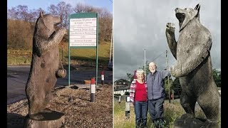 Driver crashes after thinking roadside 10ft wooden bear was REAL - 247 news