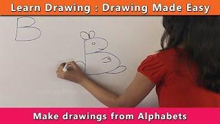 Wie zeichnen mit Buchstaben | Zeichnen Lernen Für Kinder | Zeichnen Lernen Schritt für Schritt Für Kinder
