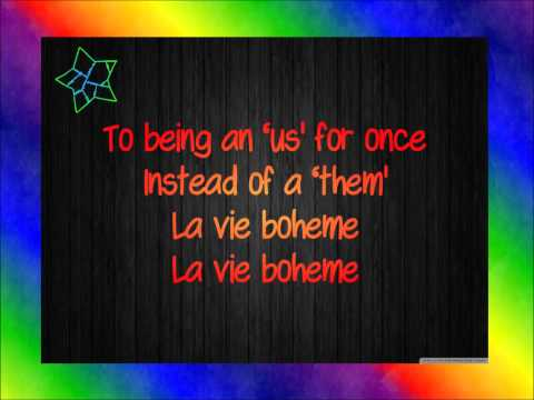 RENT - La Vie Boheme Lyrics
