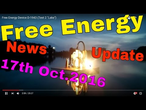 Free Energy News Update from the 17th of October 2016