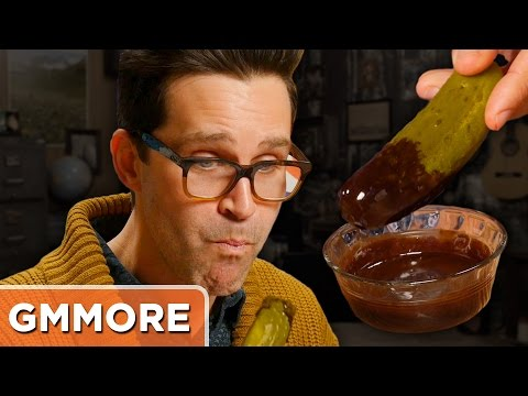 Chocolate Dipped Pickles Taste Test