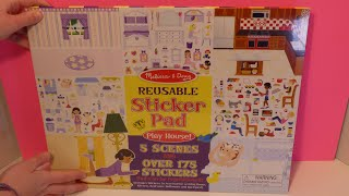 Melissa and Doug Playhouse Book Has Over 175 Stickers for Fun Play
