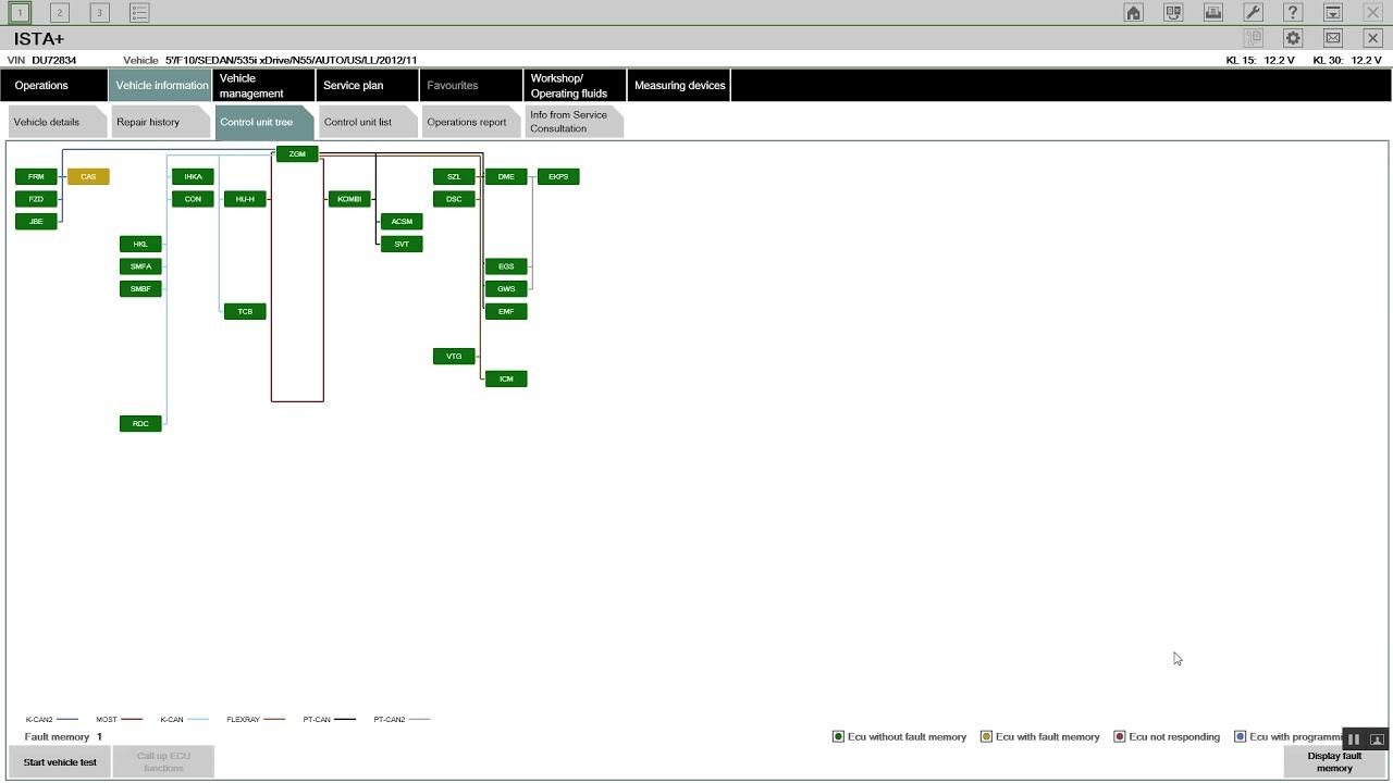 bmw fault code list f30