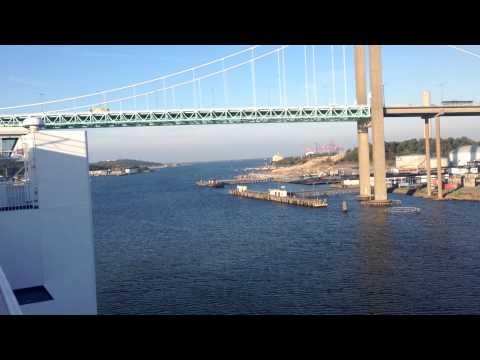 truck driver in europe, ferry in goteborg,suedia