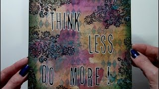 Mixed Media 6 x 6 - Words To Live By - #ArtfulEvidence