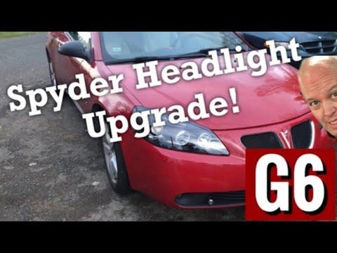 Pontiac G6 Spyder Black Headlight upgrade. Remove and install Halo Headlights 5011596 LED Assembly