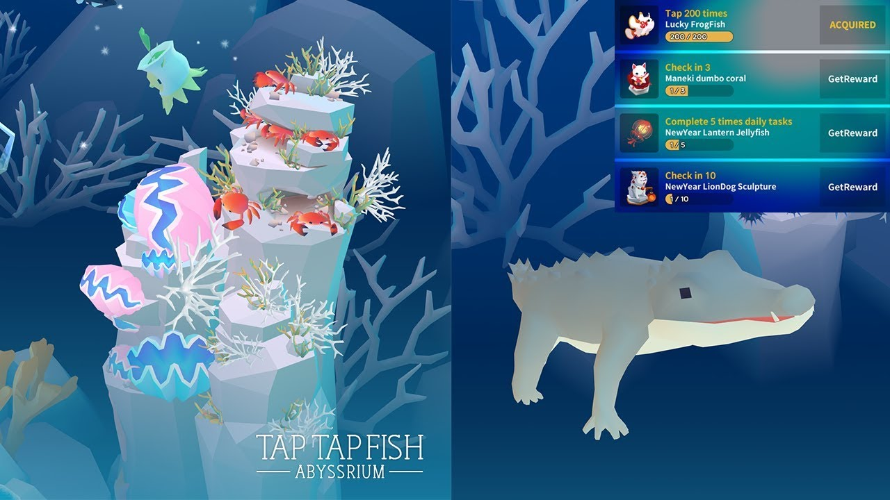 Abyssrium tap tap fish new year gifts 2018 crab farm for Tap tap fish 2